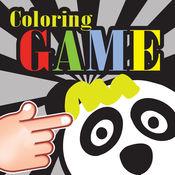 油漆熊猫pooh着色为孩子们 1
