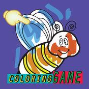 涂料蜜蜂着色书对于孩子们 1