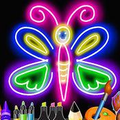 儿童画:霓虹灯为孩子和图纸幼儿园 1.2