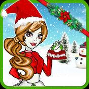 连衣裙 向上 圣诞 女孩  -   -  疯 化妆 游览 1