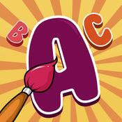 字母 图画书 幼儿: 学习写和画 字母 与许多图片,学校,幼儿园和幼稚园的字母