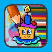 游戏蛋糕彩页为孩子绘画设计 1
