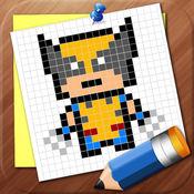 画出像素超人英雄 1