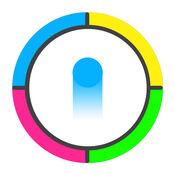 点颜色游戏:切换彩色点通带刺的车轮 1