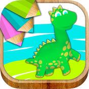 恐龙绘画和着色与魔法标记 2