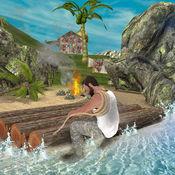 失落的岛筏生存3D模拟器:野生动物 1