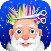 圣诞老人发型 - 剃须胡子和理发店游戏 1