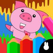 儿童涂鸦动物画...