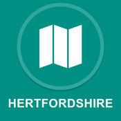 赫特福德郡,英国 : 离线GPS导航 1