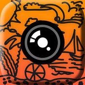在照片上涂鸦艺术 - 图片手指绘制和添加最佳影片编辑文本