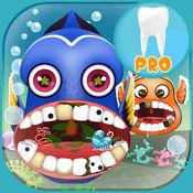 发现鱼牙医. 牙医游戏鱼 医生诊所鲨鱼 为孩子们最好的游戏