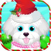 圣诞宠物故事:兽医和沙龙游戏 2