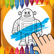 铁机器人着色书为孩子和家人