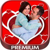 浪漫爱情相框照片编辑器用含有浪漫爱情相框的蒙太奇照片编