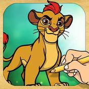 画画的狮子守卫人物 1