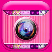 可爱的粉红色照片拼贴制作