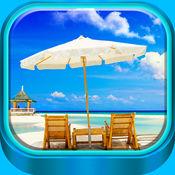 热带海滩 墙纸 -...