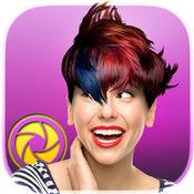改变头发的颜色和理发在美发沙龙以漂亮的发型图片编辑器 1