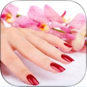 时髦的指甲化妆游戏的女孩 - 美甲艺术设计及美容美甲沙龙