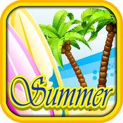 在夏日海滩度假...