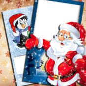 圣诞 和 新年 卡 - 发送 冬季 假日 问候 写 文本 上 图片