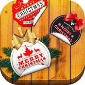 圣诞节 快乐 祝福 - 照片 贴纸 相机 和 最好的 图片 蒙太