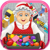 奶奶的糖果和泡泡糖厂模拟器 - 学习如何使甜糖果及口香糖