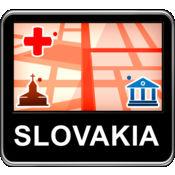 斯洛伐克 矢量地...