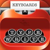 打字机字体和键...