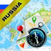 俄国 - 离线地图...