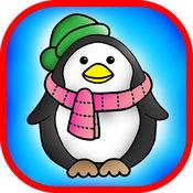 着色有趣的儿童填色书疯狂的企鹅游戏免费版 1