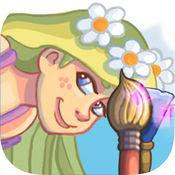 油漆和发现公主长发公主-长发姑娘着色的女孩游戏 2