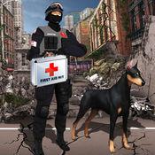 抗震救灾和救援模拟器:玩救援嗅探犬帮助地震灾民。 1