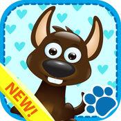 教育孩子游戏动物闪卡 1