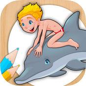油漆和颜色的动物,女孩和男孩 - 教育游戏动物指纹 2