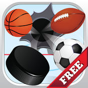 这一抖球 - 弗里克冰球击中足球,橄榄球或足球棒球 - Flick