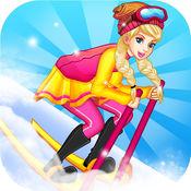 芭比公主滑雪大...