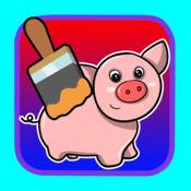 游戏猪与动物彩页为孩子 1