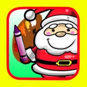 练习绘画着色雪人和圣诞老人学前教育