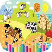 宠物 动物 染色 网页 童装 绘画 课 1