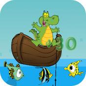 鳄鱼钓鱼 - 孩子们 钓鱼  游戏 免费 1.8