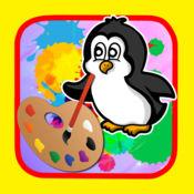绘画绘画企鹅孩子版游戏 1