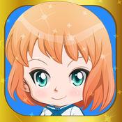 可爱的动漫女孩打扮的创造者 - 为孩子们的游戏赤壁日本化