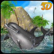 海豚模拟器3D - 水下鱼模拟游戏 1