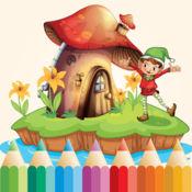 公主小妹 著色遊戲 : 免费 着色页 1