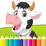 农场和动物图画书 - 绘画为孩子们免费游戏 1