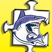 Jaws游戏:鲨鱼Sharko拼图游戏的孩子 1