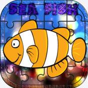 海洋 脑 训练 小游戏 对于 孩子 和 成年人 水族馆 拼图 益