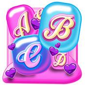可爱 键盘 - 多彩 主题 和 背景 1