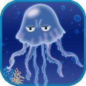 水母游泳反弹逃生水母海绵礁潜水 1